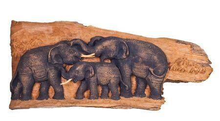 tree elephant teak wood carving