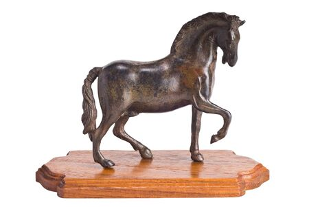model of horse with wood splat Stock Photo - 11870896