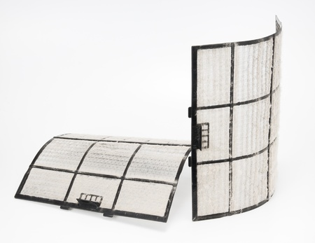air filter: home air conditioner filter with many dust