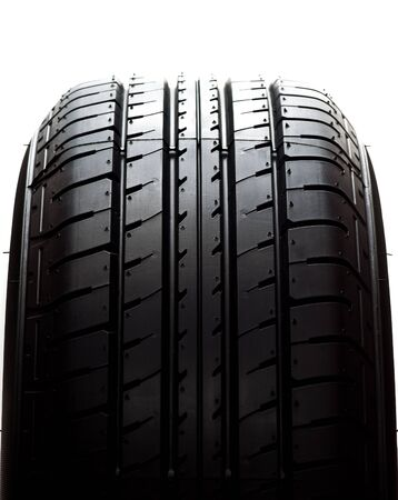car tyre on white background  photo