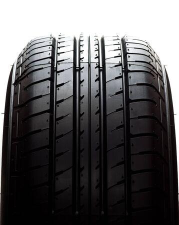 car tyre on white background Stock Photo - 13550710