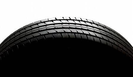 car tyre on white background  Stock Photo - 13550685