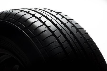 car tyre on white background  Stock Photo - 13550712