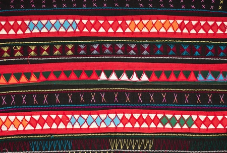 tradition handwork fabric of hill tribe at northern of Thailand Stock Photo - 18587049