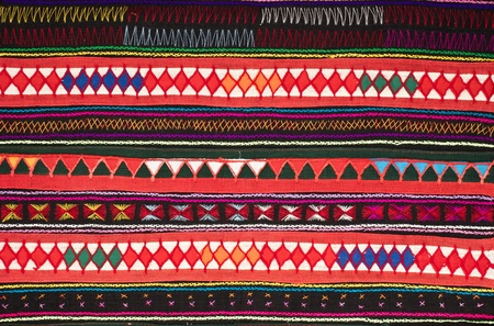 tradition handwork fabric of hill tribe at northern of Thailand Stock Photo - 18587060