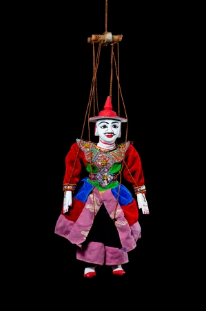 tradition string puppet for tourist souvenir, Myanmar   Stock Photo
