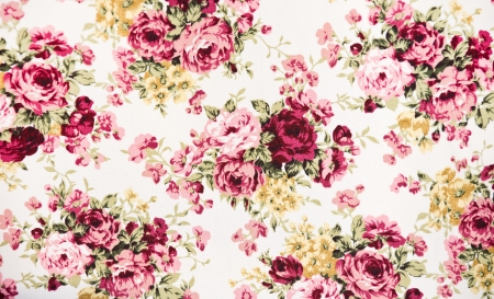flower pattern: texture, print and wale of fabric Stock Photo