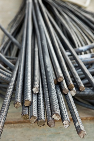 Steel rods or bars used to reinforcement concrete photo