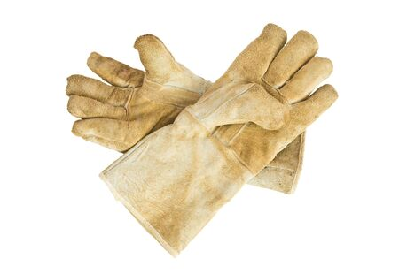 pair of  Dirty old leather gloves Stock Photo - 19137824