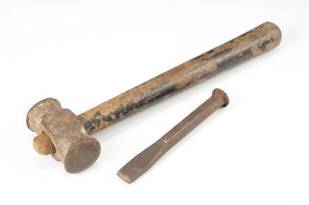 usés burin et un marteau
