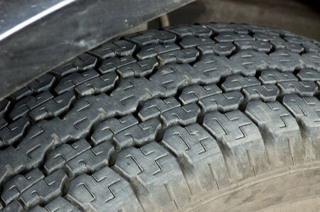 car tire that installed in the truck Stock Photo - 21446468