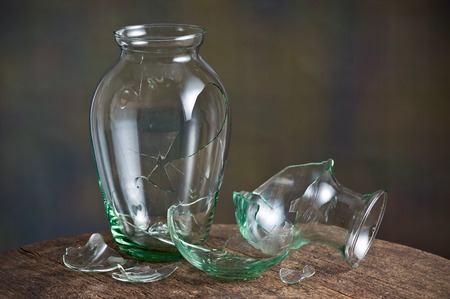 Still Life Photography Broken Glass Vase Stock Photo Picture And