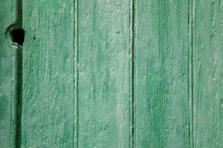 recently: Recently painted green wood door and window panels Stock Photo