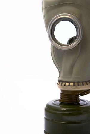 biochemical: The gas mask on a white background is isolated empty