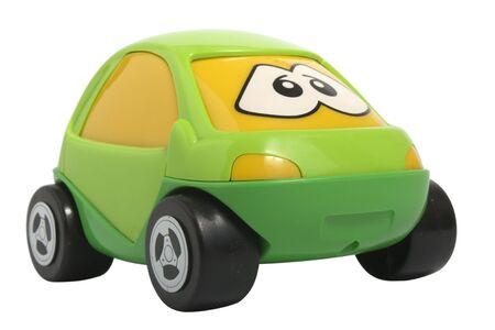 childishness: Toy car isolated on white
