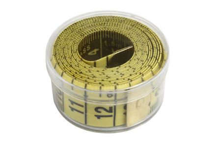 tape measure in transparent plastic packing photo