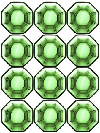 octagonal: de fondo de celdas de vidrio octogonal sobre fondo blanco est� aislado Foto de archivo