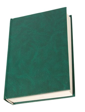 blank green book isolated on white background