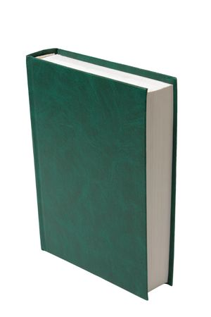 folio: blank green book isolated on white background