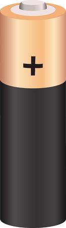 pilas: vector doble una bater�a aislado en blanco