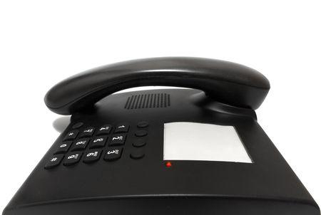 business black phone isolated on white background Stock Photo - 5666233