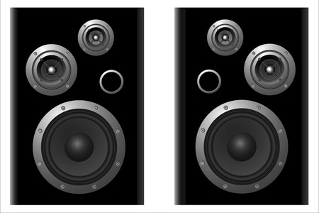 speakers: two vektor speaker systems on white background