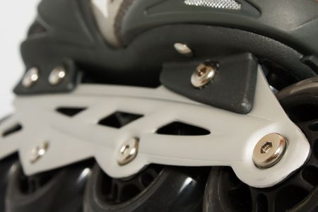 the part of black roller skate wheels photo