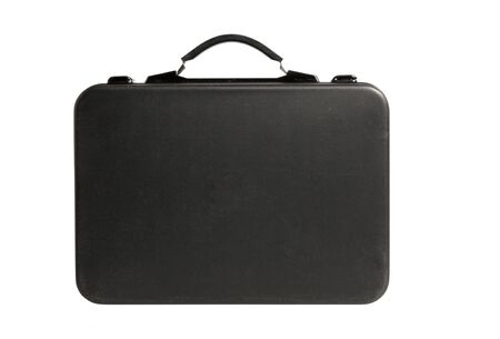 the black briefcase isolated on white background photo