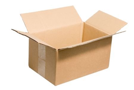 empty cardboard box isolated on the white background photo