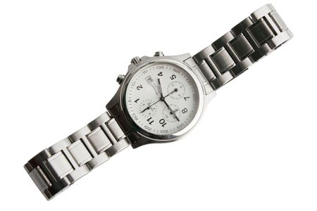 mens fashion: the wrist watches isolated on white background