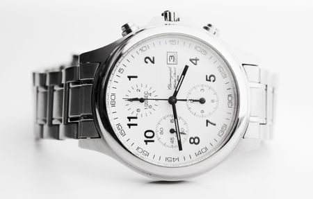 the classic wrist watches on white background photo