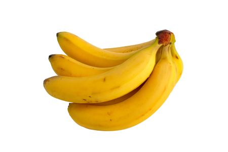 A bunch of bananas isolated on white background photo