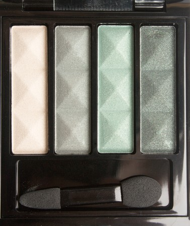Eyeshadow Palette of four colores in black container photo