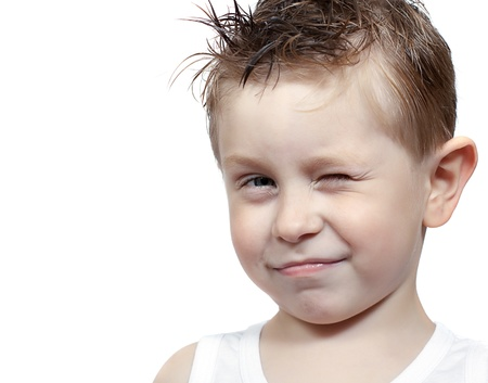 Adorable boy isolated on the white background Stock Photo - 10573037