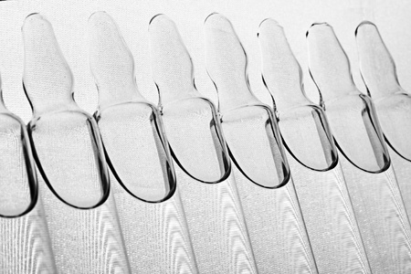 medical vials of vaccine on a white background Imagens