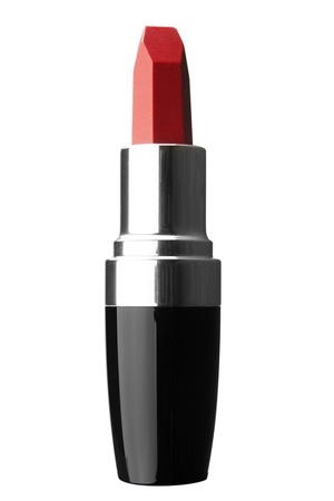 Beautiful Red Lipstick Isolated on White Background Reklamní fotografie