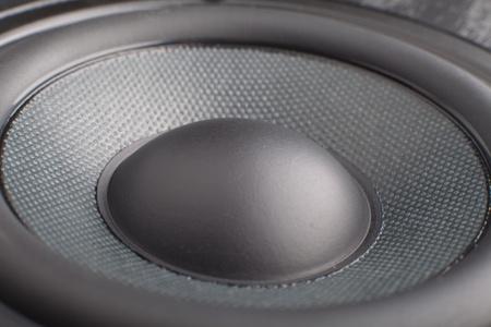 the part of black loudspeaker close up Imagens