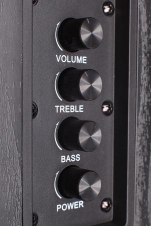 black audio control - volume, treble, bass and power Stock Photo - 12866390