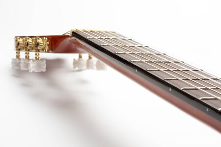 clr: Part of Classic Guitar on White Background