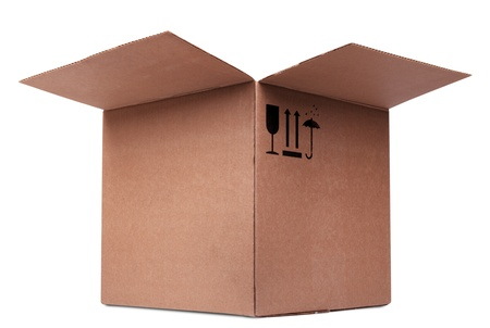 carboard box: Carboard Box isolated on the white background Stock Photo
