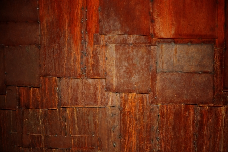the abstract  background of metal rusted patches