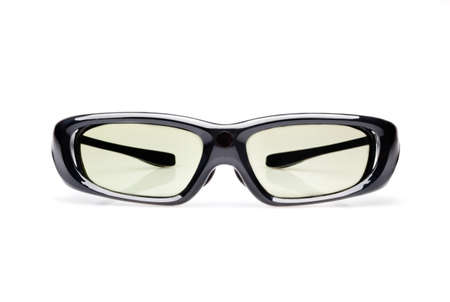 Active 3D glasses isolated on white background Stock Photo - 19717419