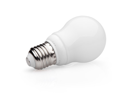 Energy saving light bulb isolated on white  photo