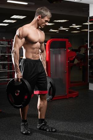 latissimus: Muscular athletic bodybuilder Stock Photo
