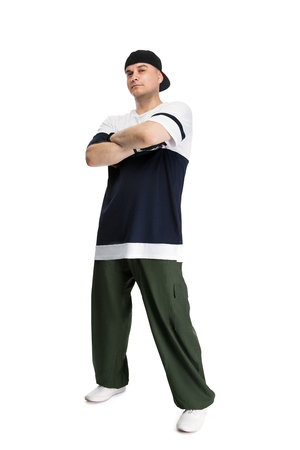 Hip-hop dancer, isolated with clipping pach Stock Photo