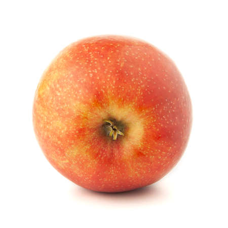 Red apple on a white background with a shadow. Stock fotó