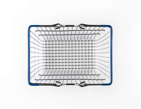 Shopping basket or shopping cart isolated on a white background.