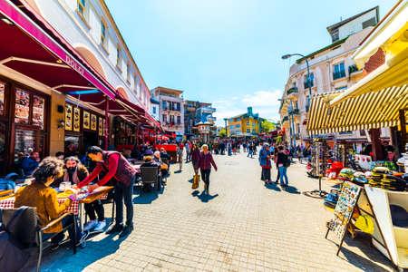 ISTANBUL - APRIL 22, 2019: BUYUKADA, Princes' Islands, Istanbul, Turkey. Buyukada is the largest island of Princes' Islands.