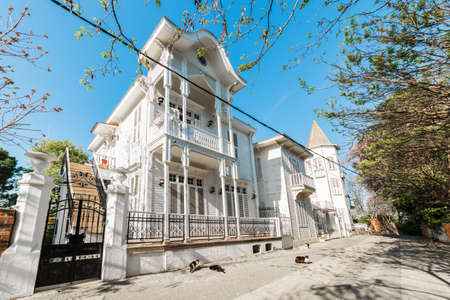 UPPER, Princes' Islands, Istanbul, Turkey. Historical and traditional houses in island. Buyukada is the largest island of Princes' Islands. Stock Photo