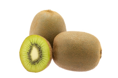 Kiwi isolated on white photo